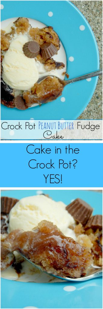 crock pot peanut butter fudge cake