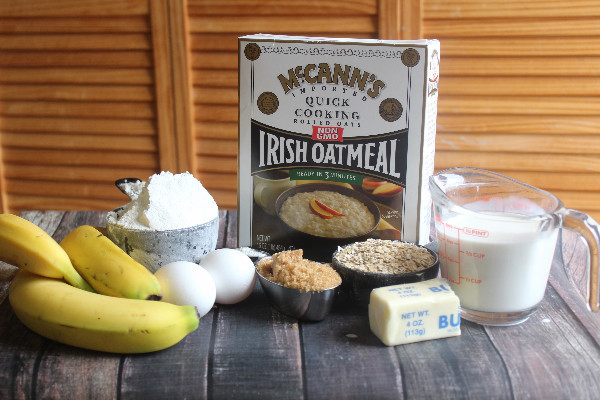 oatmeal banana muffin ingredients