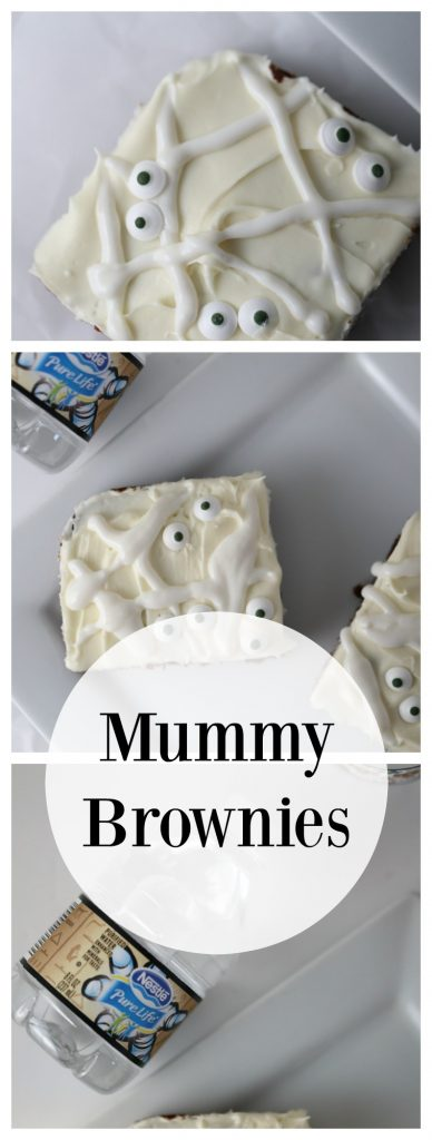 Halloween Treats: Mummy Brownies