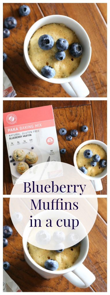 Microwave Blueberry Muffins in a Mug