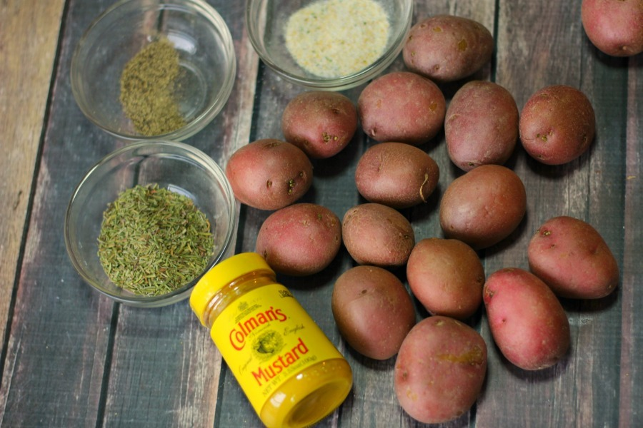 rosemary and mustard potatoes ingredients