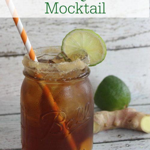 Ginger Lime Tea Mocktail