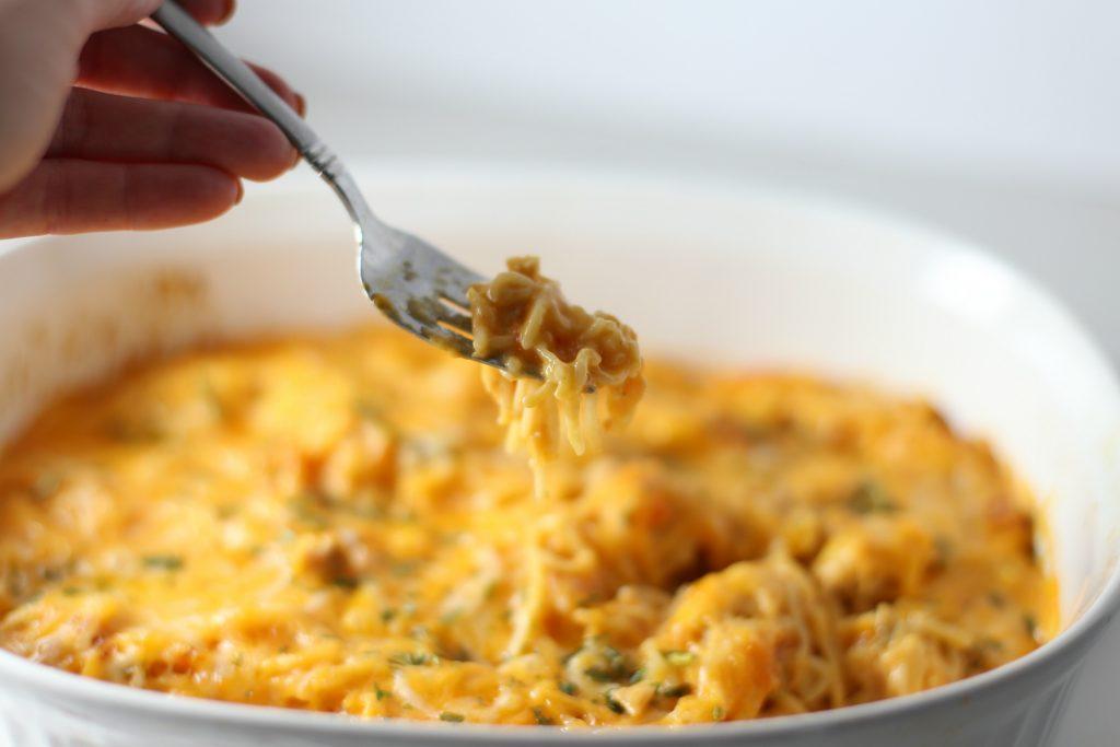 Delicious Wisconsin Cheese & Chicken Spaghetti