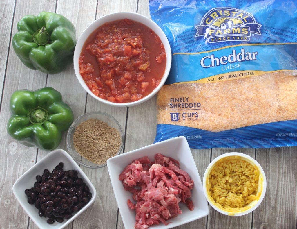 fajita-stuffed-pepper-recipe-ingredients