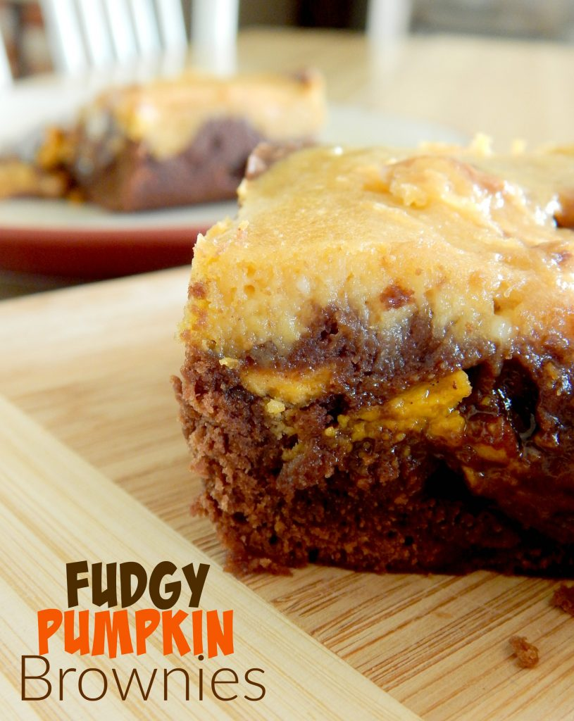Fudge Pumpkin Brownies