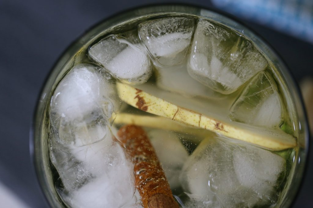 Ginger and Pear Wine Cocktail