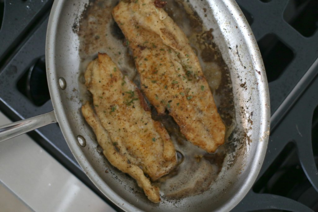 Butter and Pepper Crispy Walleye
