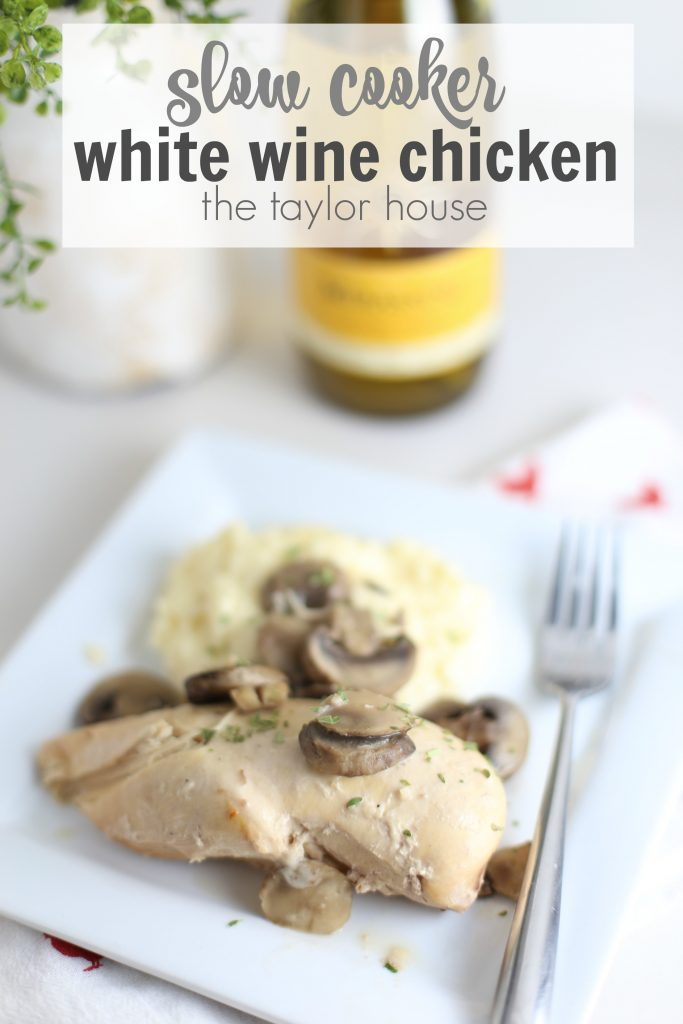 Easy Five Ingredient Slow Cooker White Wine Chicken The Perfect Easy Meal Or Fancy Enough