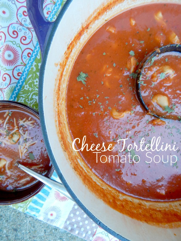 Cheese Tortellini Tomato Soup in 30 minutes!
