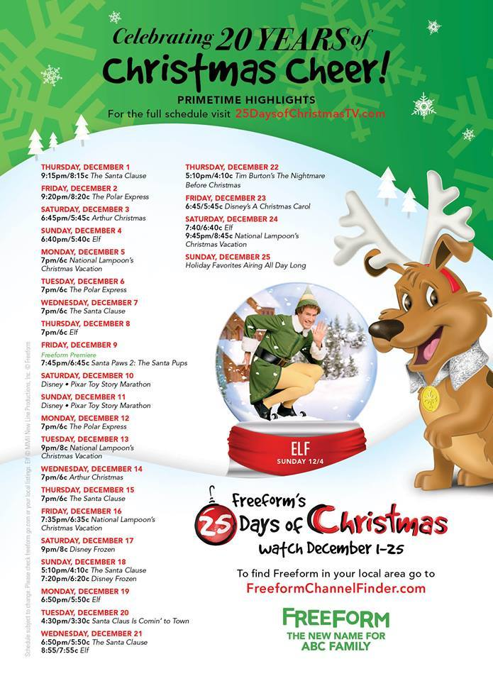 25 Days of Christmas with ABC Family (FreeForm)