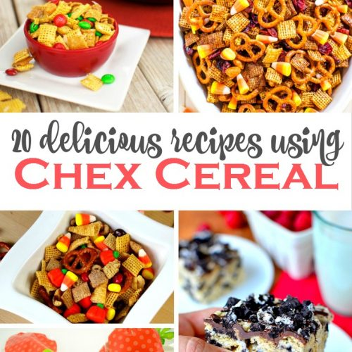 20 Yummy Recipes using Chex Cereal