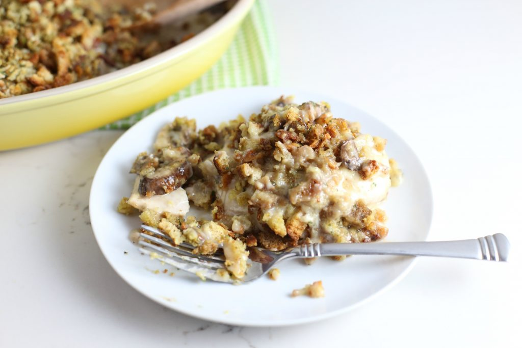 Stuffing and Cheese Chicken Casserole