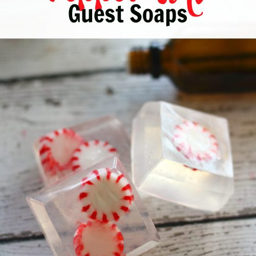 Homemade Peppermint Guest Soaps