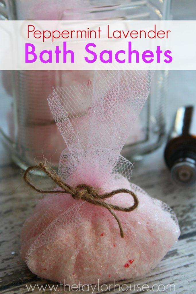 Peppermint Lavender Bath Sachets