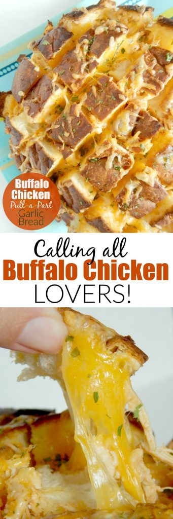 Buffalo Chicken Pull-a-Part Garlic Bread