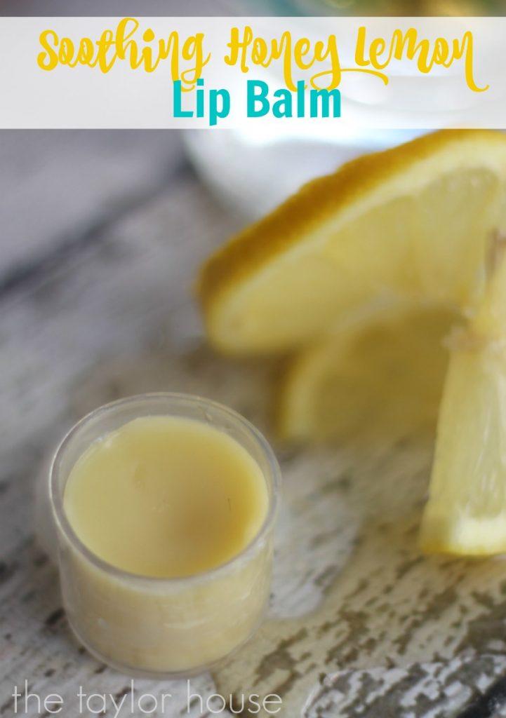 Honey Lemon Homemade Lip Balm | The
