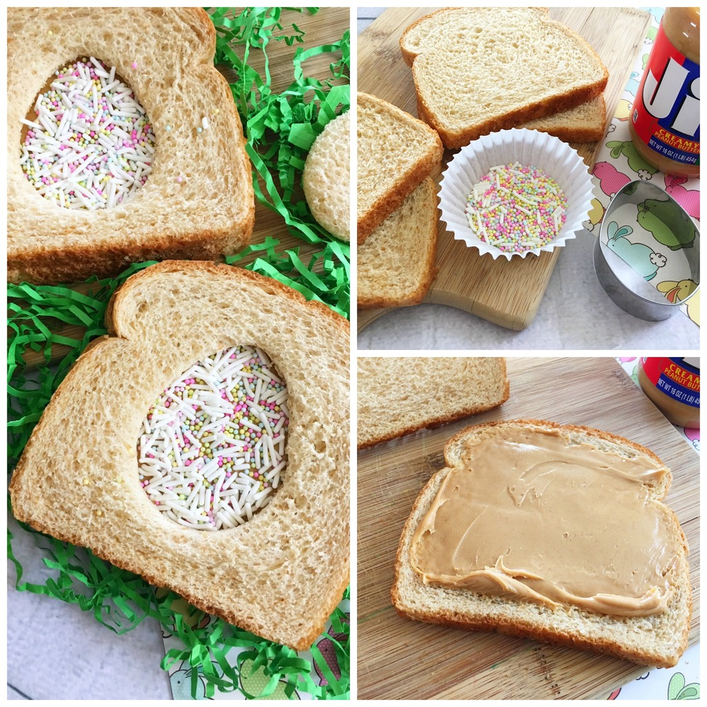 Peanut Butter Easter Egg Sandwich