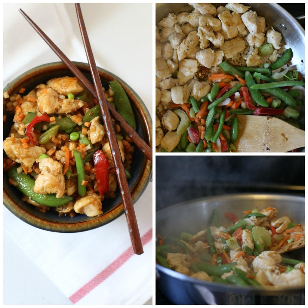 Cauliflower Rice Chicken Stir Fry