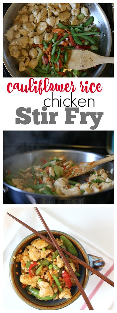 Cauliflower Rice Chicken Stir Fry