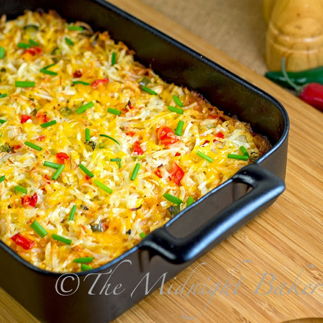 MexiCali Hashbrown Casserole from The Midnight Baker