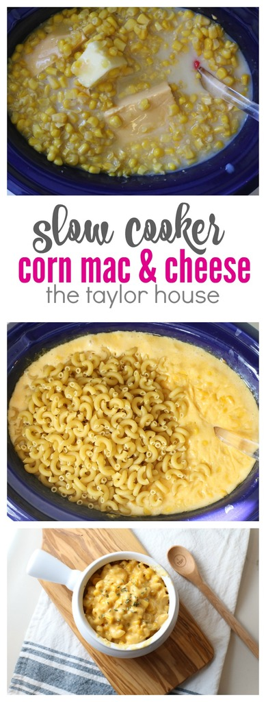 Delicious and Simple Slow Cooker Corn Mac and Cheese
