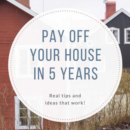 How to Pay off Your House in 5 Years or Less