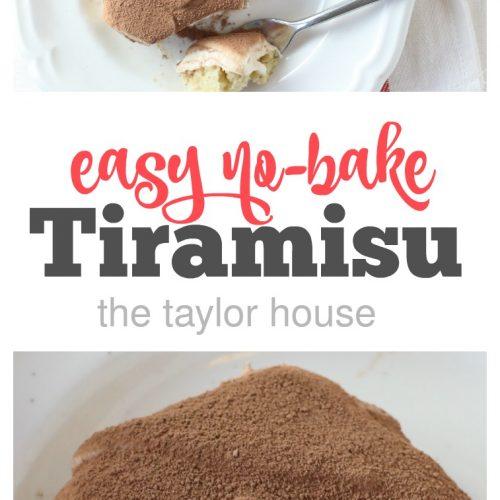 Easy No-Bake Tiramisu