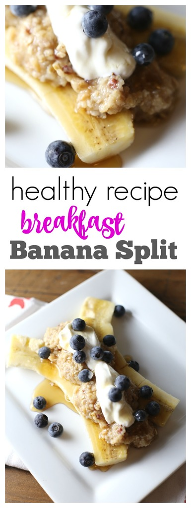 Healthy Breakfast Banana Split