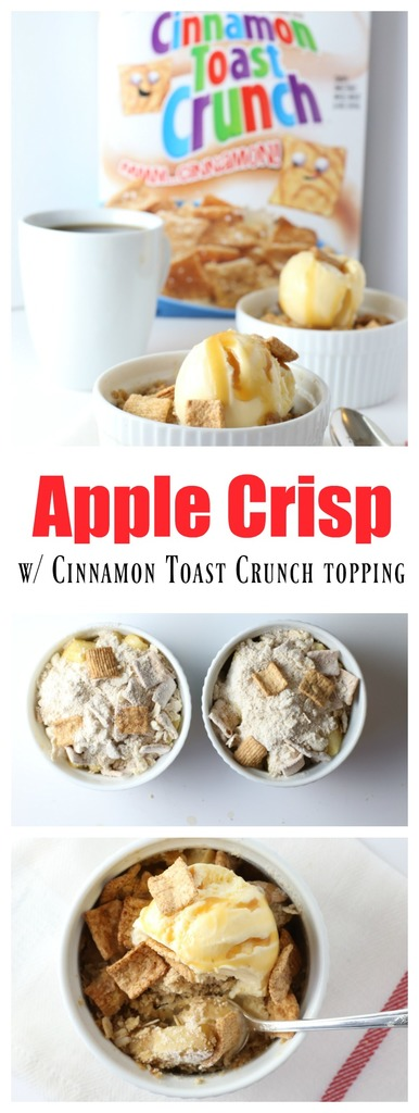 Apple Crisp with a Cinnamon Toast Crunch Topping