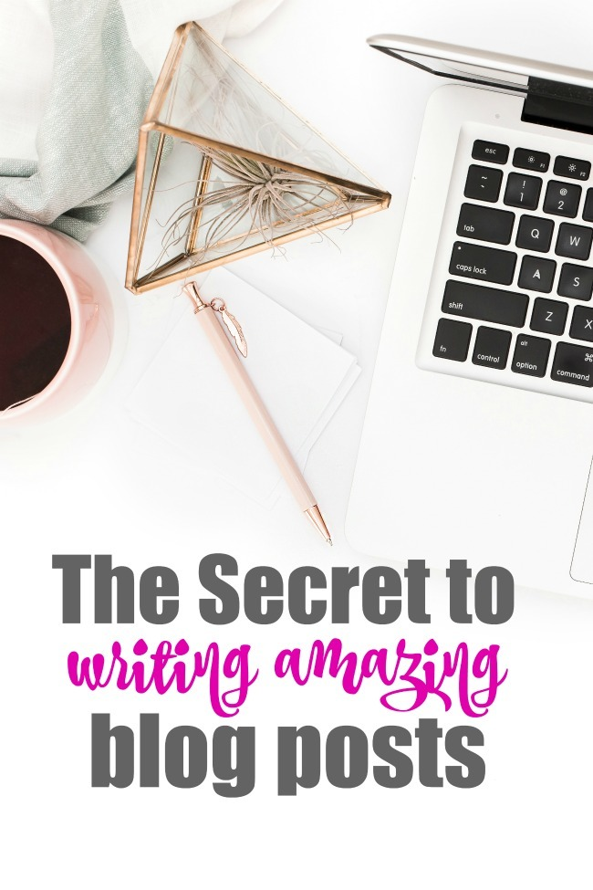 The Secret to Writing Amazing Blog Posts