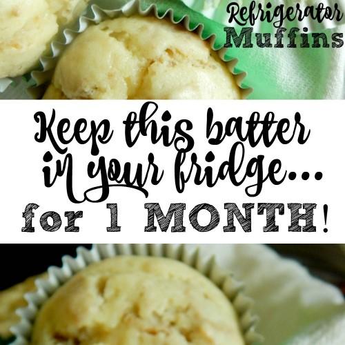 1 Month Refrigerator Muffins