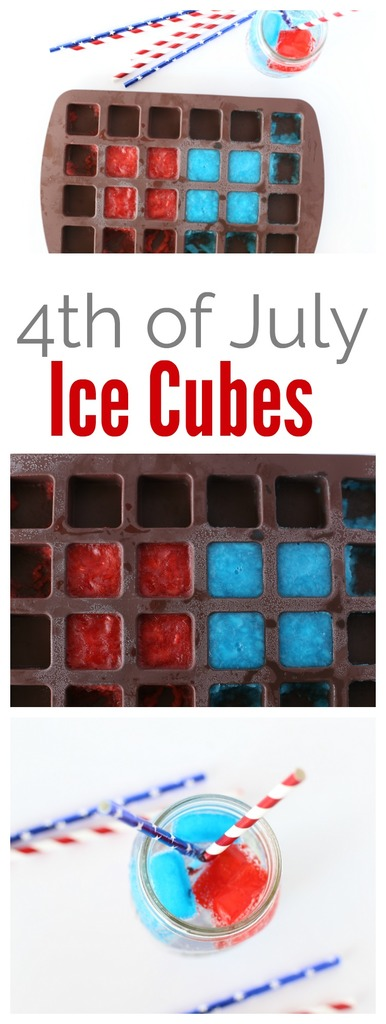 4th of July Jello Ice Cubes