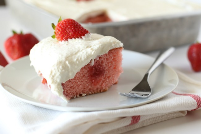 Strawberry Fridge Cake