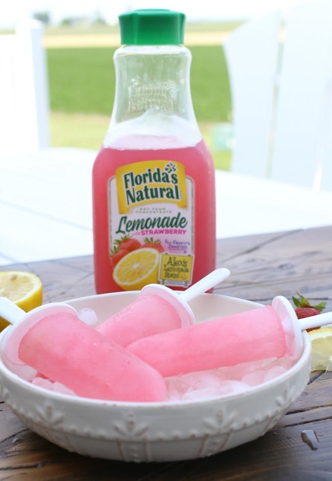 Homemade Strawberry Lemonade Pops