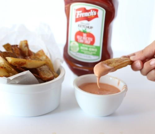 Homemade Baked French Fries and Fry Sauce