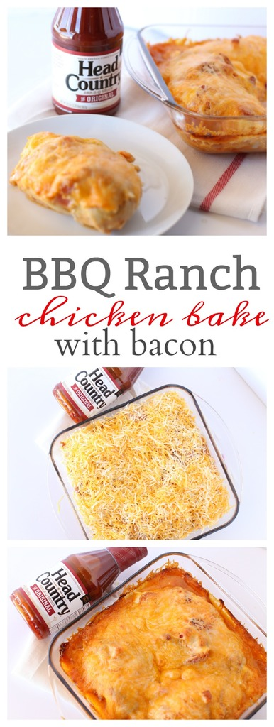 BBQ Ranch Chicken Bake with Bacon