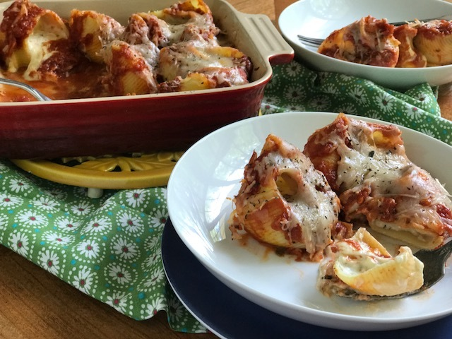 Stuffed Shells with Lumaconi pasta from HemisFares