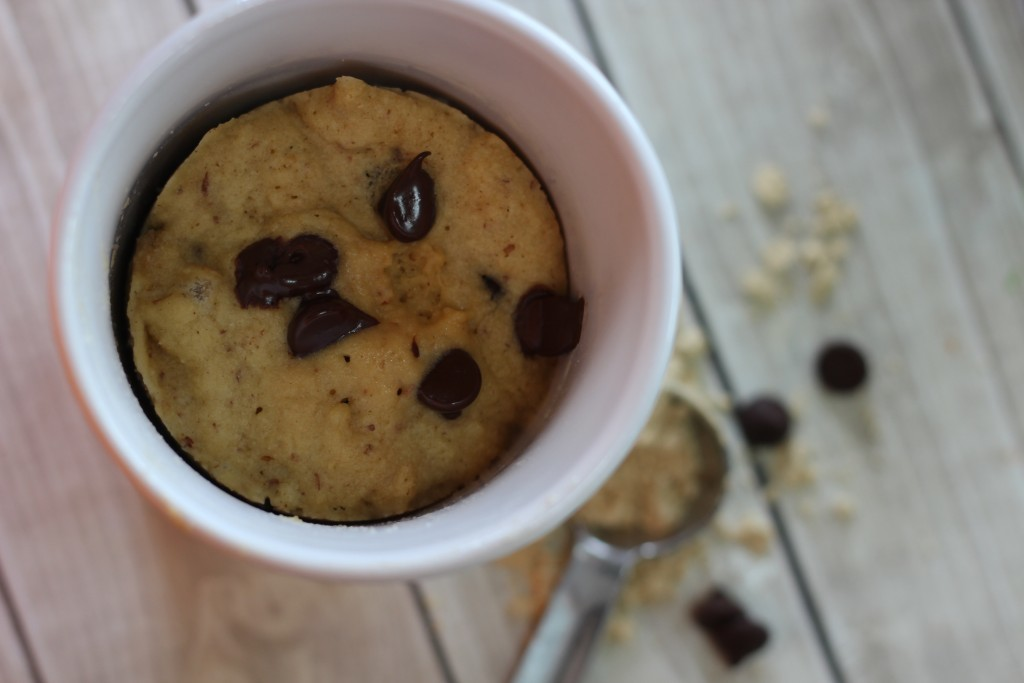Peanut Butter Chocolate Chip Low Carb Mug Cake