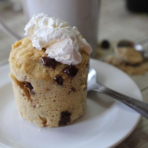 Peanut Butter Chocolate Chip Low Carb Mug Cake