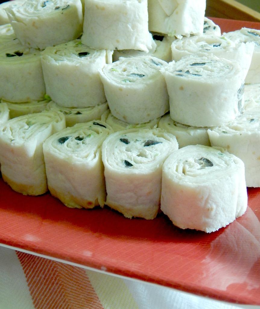 Feta and Black Olive Tortilla Roll-ups