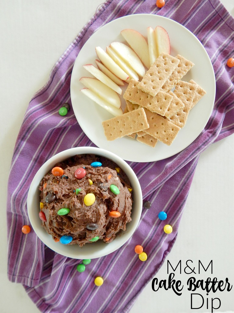 M&M Cake Batter Dip
