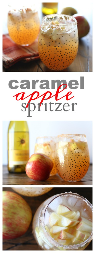 Fall Cocktail: Caramel Apple Spritzer