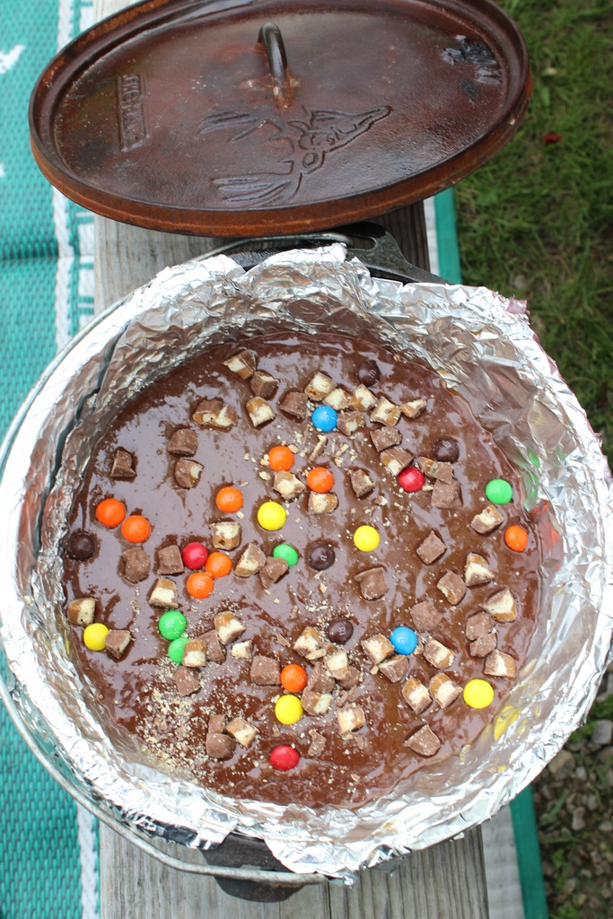 Simple Campfire Brownies full of Candy