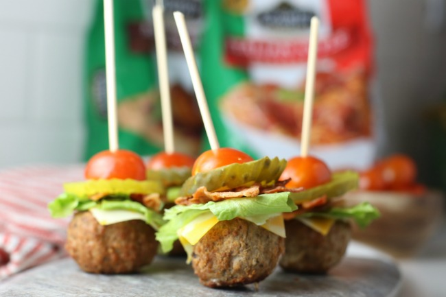 Game Day Cheeseburger Meatballs