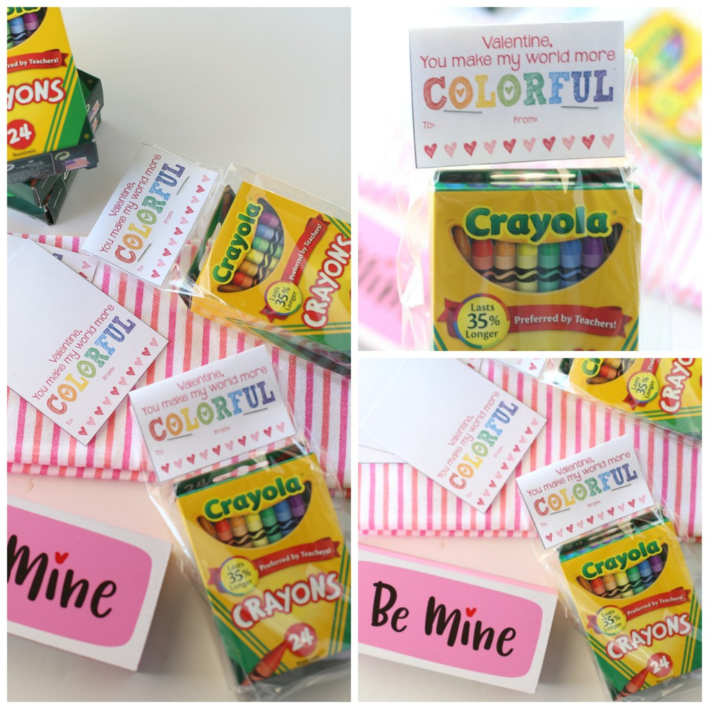 FREE Printable Valentines Day Cards (Crayons)