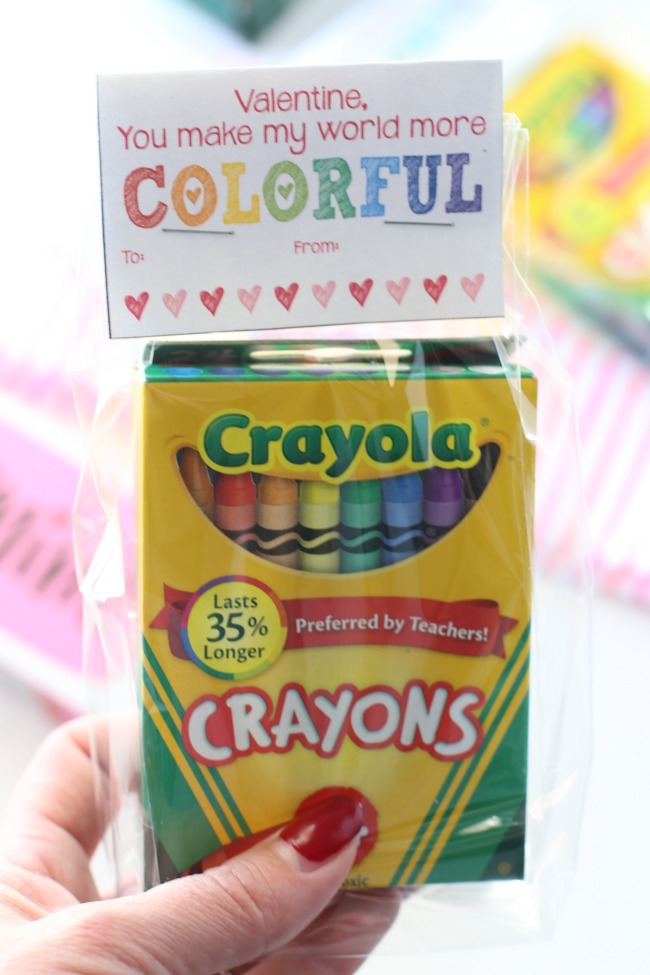 photograph regarding Printable Valentine Card for Teacher called No cost Printable Valentines Working day Playing cards (Crayons) The Taylor Place