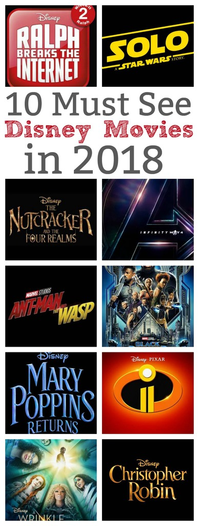 10 Must See Disney Movies in 2018