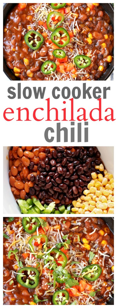 Slow Cooker Enchilada Chili Recipe