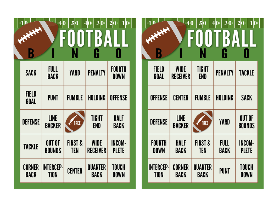 photo relating to Superbowl Boards Printable titled Tremendous Bowl Soccer Bingo Playing cards (No cost PRINTABLE) The