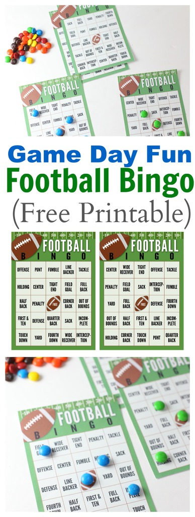 picture regarding Free Printable Football Bingo Cards known as Tremendous Bowl Soccer Bingo Playing cards (No cost PRINTABLE) The